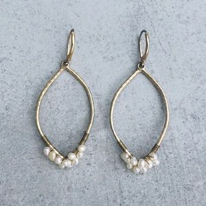 Anthropologie Gold and Pearl Earrings